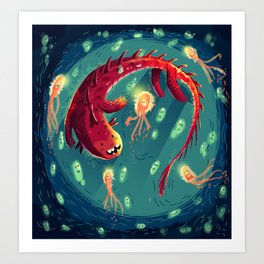 :::Sea Dragon::: Art Print