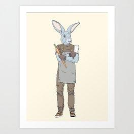 Vegan butcher Art Print