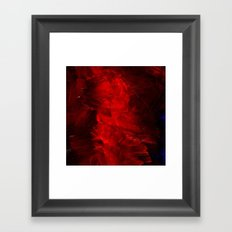 Red Abstract Paint Framed Art Print