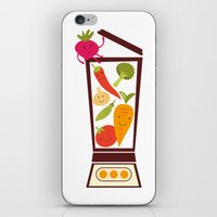 vegetable iPhone & iPod Skins featuring Vegetable smoothie by olillia