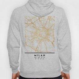 MILAN ITALY CITY STREET MAP ART Hoody
