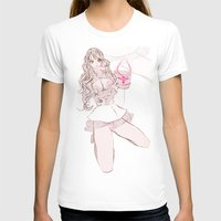 champagne T-shirts featuring CAPRI CHAMPAGNE by Chandelina