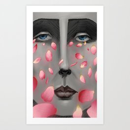 Their Falling Gaze Art Print