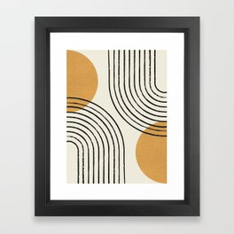 Sun Arch Double - Gold Framed Art Print
