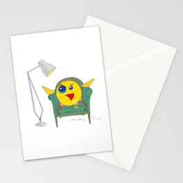 Yellow Bird Has Tea Stationery Cards