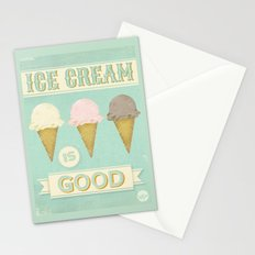 Ice Cream is Good Stationery Cards
