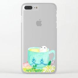 A Bean in Tea Clear iPhone Case