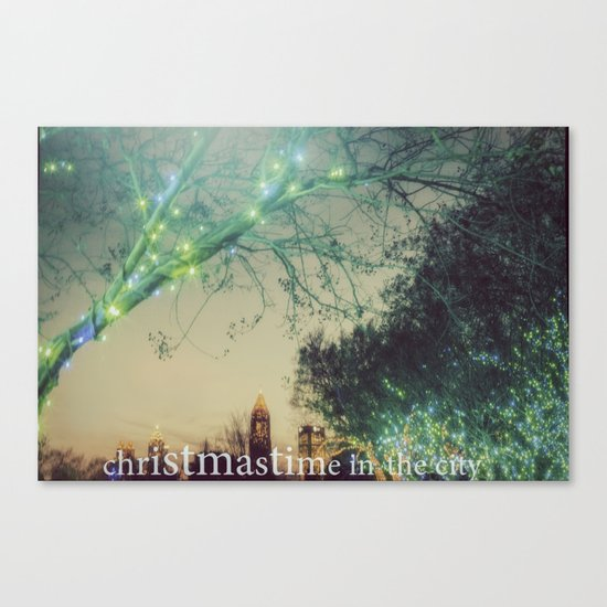 Christmastime In The City Canvas Print