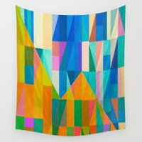 climbing Wall Tapestries featuring By Climbing Colors by Fernando Vieira