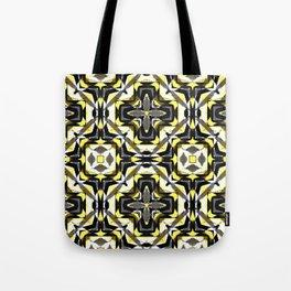 black yellow gray and white geometric Tote Bag