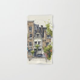 Residential house along Amsterdam canals Hand & Bath Towel