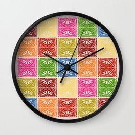 Fiesta Patchwork Wall Clock