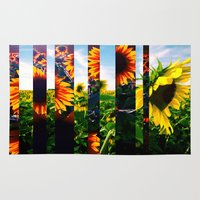 maryland Area & Throw Rugs featuring Sunflowers in Maryland by kpatron