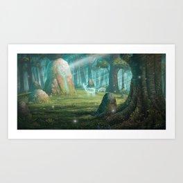 The rock of souls Art Print