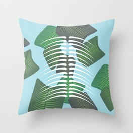 Leaf Bones Throw Pillow