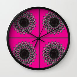 Graphic Design of Ombre Circle Kaleidoscope Wall Clock