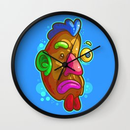 Chicken Tater Head Wall Clock
