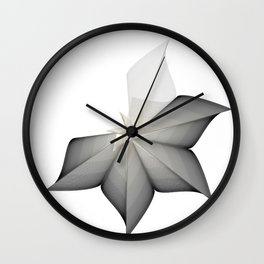 grey flower Wall Clock