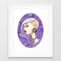 pentagram Framed Art Prints featuring Pentagram Girl by Miss E