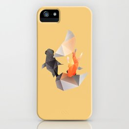 Butterfly Tail Goldfish. iPhone Case