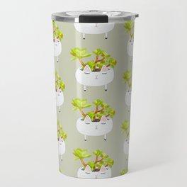 Kawaii succulents Travel Mug