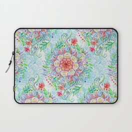 Messy Boho Floral in Rainbow Hues Laptop Sleeve