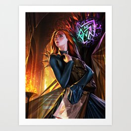 Shallan and Pattern Art Print