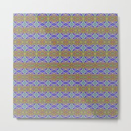 Multicolor Designer Stripes Metal Print