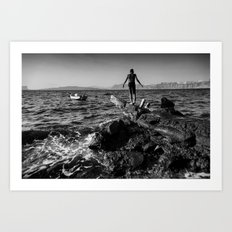 The Diver Art Print