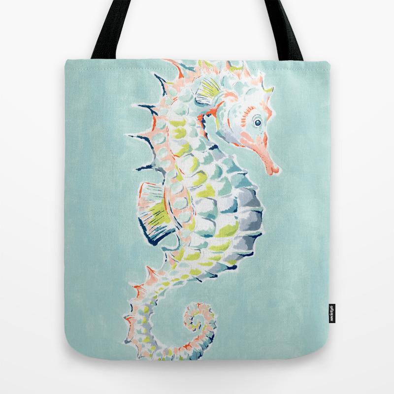 Cotton Bag Seahorse-nature