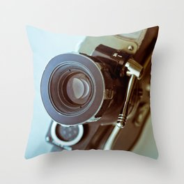 Vintage old movie Super-8 camera Throw Pillow