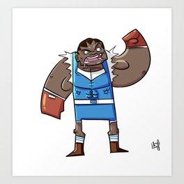 Street Fighter's M. Bison (JPN)/B@lrog (USA) Art Print