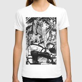 Attack on Titan   Levi Ackerman Black White T-shirt