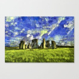 Stonehenge Vincent Van Gogh Canvas Print