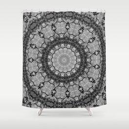 Black and White Lace Mandala A541B Shower Curtain