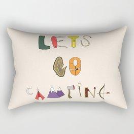 Let's Go Camping Rectangular Pillow