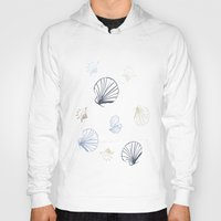 seashell Hoodies featuring Shell Pattern by Christina Rollo