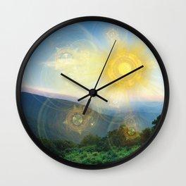 Blue Ridge Mountain Sun Wall Clock