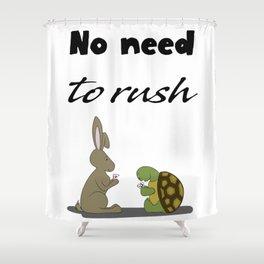 No rush Shower Curtain