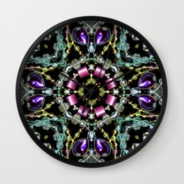 Bling Jewel Kaleidoscope Scanography Wall Clock