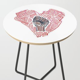 Untitled (Heart Fist) Side Table