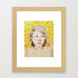 Fantastic Mrs. Thumb Framed Art Print