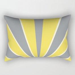 Illuminating Ultimate Gray Retro Summer Sun Glam #1 #wall #art #society6 Rectangular Pillow