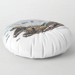 Millennial Falcon Floor Pillow