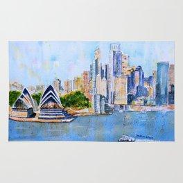 Colorful Sydney Harbor Rug