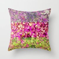 psychadelic Throw Pillows featuring Psychadelic Succulents by Hithere22