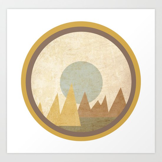 Moon & Mountains Art Print