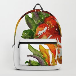 Sunflower Watercolor - Yellow Floral Backpack