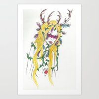 woods woman Art Print