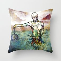 Holding the World Throw Pillow